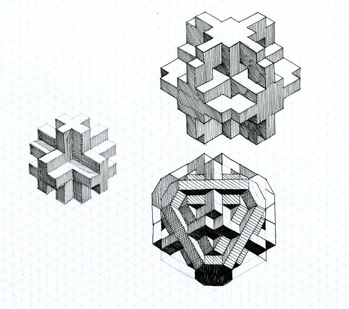 three letter word for art: Fun with Isometric Graph Paper