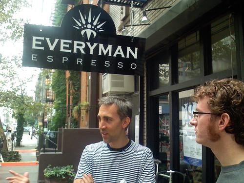Jonathan and Danger Dan at Everyman Espresso