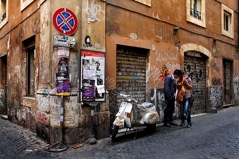 A street corner in Trastevere