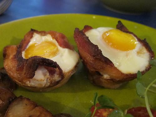 Bacon, Egg & Toast Cups