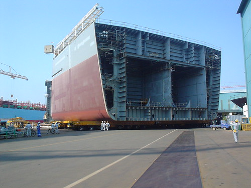 Exploratory Drillship In Shipyard