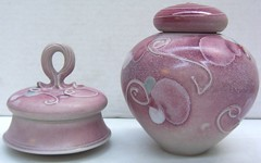 Kevin Boyd. Pair of lidded pots