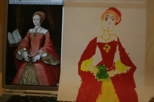 drawing princess elizabeth I
