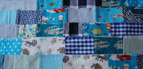 Studio Paars WIP lapjesdeken jongen patchwork deken blanket boy