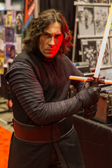 "Kylo Ren lit by Saber C2E2 2016 • <a style=""font-size:0.8em;"" href=""http://www.flickr.com/photos/33121778@N02/25840502132/"" target=""_blank"">View on Flickr</a>"