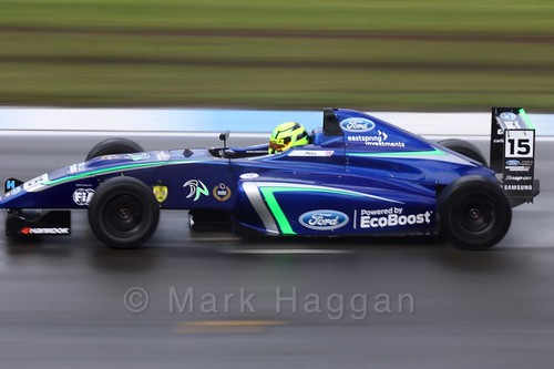 James Pull in British Formula Four during the BTCC Donington Weekend: 16th April 2016