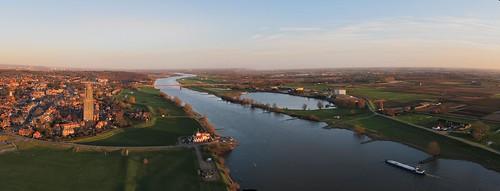 Panorama Rhenen richting Wageningen