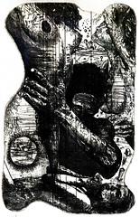 A. BADALONI_L'abbraccio, acquaforte  e acquatinta, 2005
