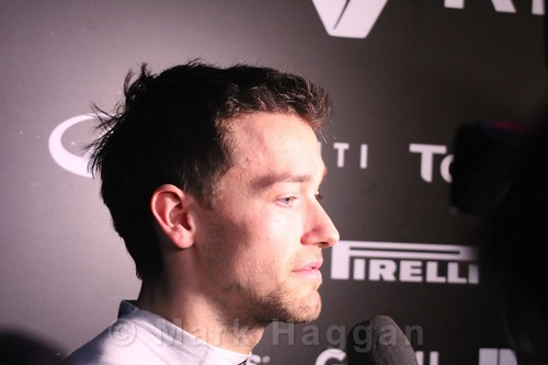 Jolyon Palmer interviewed during Formula One Winter Testing 2016