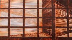M. C. FASULO_Aria, puntasecca su pvc (3 lastre-2 colori), 2005