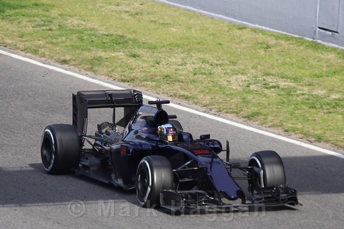 Carlos Sainz Jr in his Toro Rosso during Formula One Winter Testing 2016