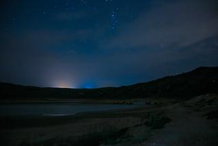 Puente Ariza por la noche