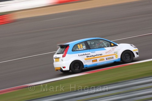 Kevin Stirling in the BRSCC Fiesta Championship at Silverstone, April 2016