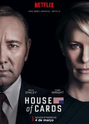 """""""House of Cards"""" tem cartaz da 4ª temporada divulgado; estreia é 4 de março"""