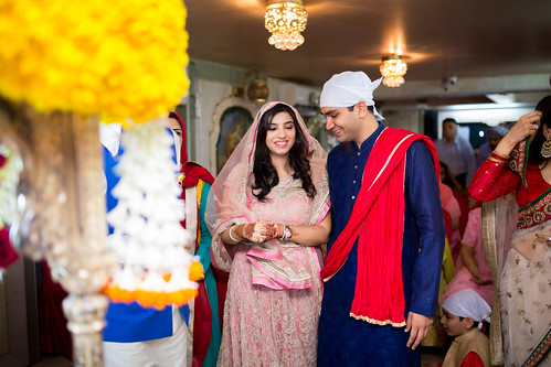 As the faces lit up and the families celebrate the coming together of Saahil and Shivani