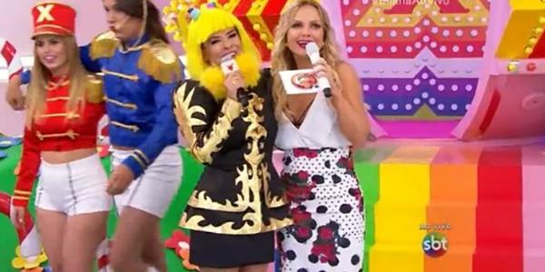 Antes concorrentes, Mara faz cosplay de Xuxa no programa da Eliana