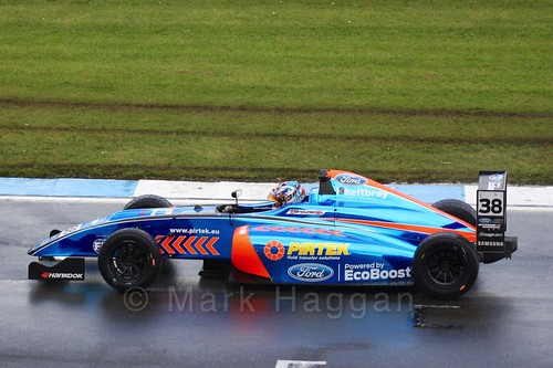 Jamie Caroline in British Formula Four during the BTCC Weekend at Donington Park, April 2016