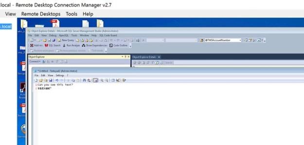 Remote Desktop Connection Manager High Resolution