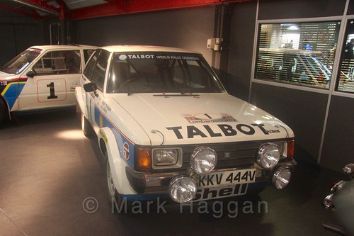 A Talbot rally car at Coventry Transport Museum