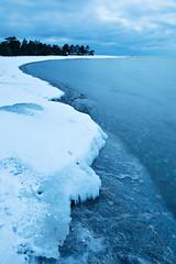 Icy coastline at Torö
