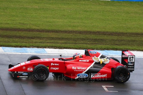 Frank Bird in British Formula Four during the BTCC Donington Weekend: 16th April 2016