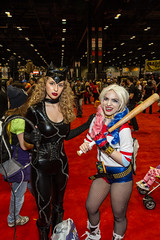 "Cat woman and Harley Quinn #C2E2 #cosplay • <a style=""font-size:0.8em;"" href=""http://www.flickr.com/photos/33121778@N02/25341709173/"" target=""_blank"">View on Flickr</a>"