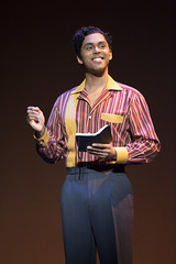 """Jesse Nager (Smokey Robinson) in the Broadway Sacramento presentation of """"Motown The Musical"""" at the Sacramento Community Center Theater May 18 – 29, 2016. Photo by Joan Marcus."""