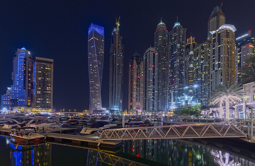 Dubai Marina @ night