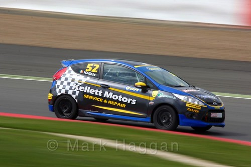 Alastair Kellett in the BRSCC Fiesta Championship at Silverstone, April 2016