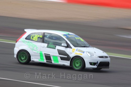 Jamie Going in the BRSCC Fiesta Championship at Silverstone, April 2016