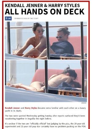 Kendall Jenner e Harry Styles são flagrados em clima de romance