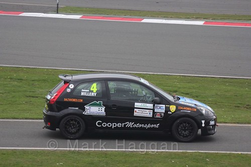 James Hillery in the BRSCC Fiesta Junior Championship at Silverstone, April 2016