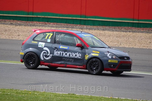 David Pugh in the BRSCC Fiesta Championship at Silverstone, April 2016