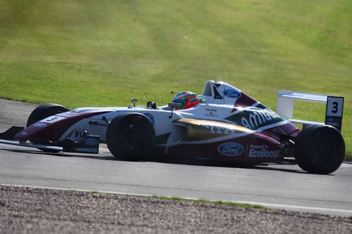 Sennan Fielding in British Formula Four during the BTCC Donington Weekend: 16th April 2016