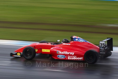 Harry Hayek in British Formula Four during the BTCC Donington Weekend: 16th April 2016