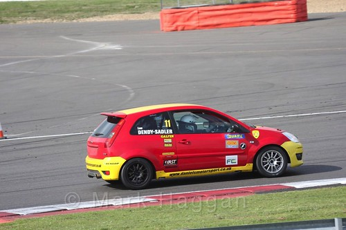 Lee Dendy-Sadler in the BRSCC Fiesta Championship at Silverstone, April 2016