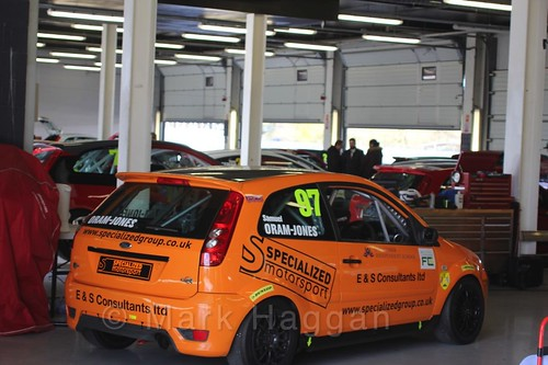 Samuel Oram-Jones Fiesta in the BRSCC weekend at Silverstone, April 2016