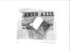 Frammento di giornale, acquaforte, 1987