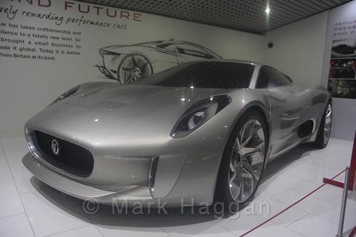A Jaguar concept car at Coventry Transport Museum