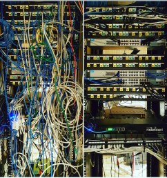 a recent networking clean up etor networks did check out the before after  [ 1024 x 1024 Pixel ]
