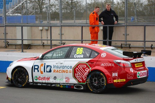 Josh Cook at the BTCC Media Launch Event 2016