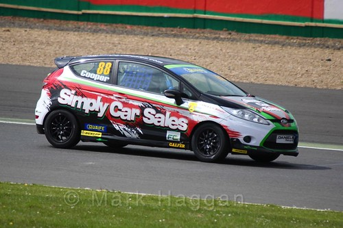 John Cooper in the BRSCC Fiesta Championship at Silverstone, April 2016