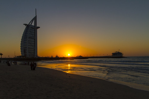 Burj al Arab - sunset