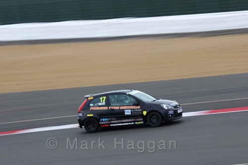 James Waite in the BRSCC Fiesta Junior Championship at Silverstone, April 2016