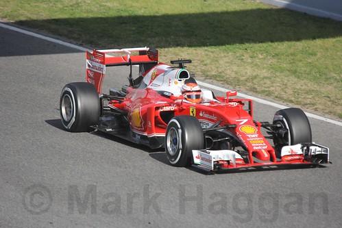 Kimi Raikkonen in Formula One Winter Testing 2016