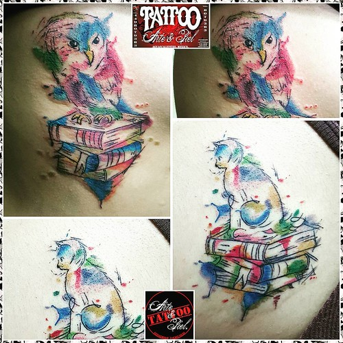 Tatuajes Gatos Acuarela