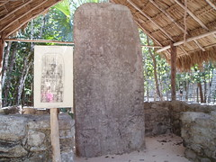2005 01 22 7 Coba Stela 1 describes creation myth and has longest long count date ever written 3188 BC