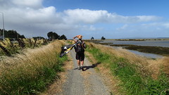 Hiking out from Invercargill, the last leg towards Bluff.
