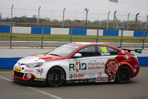 Ashley Sutton in the BTCC Media Launch Event 2016