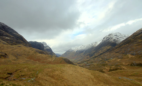 The view down Glen Coe